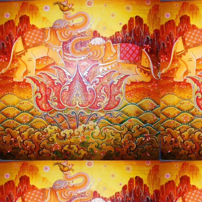 Tapeta Pixerstick Slon indický ilustrace. - Asie