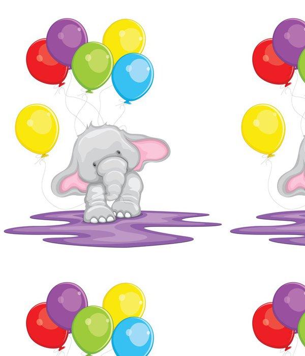 Tapeta Pixerstick Slon s balonem - Nálepka na stěny