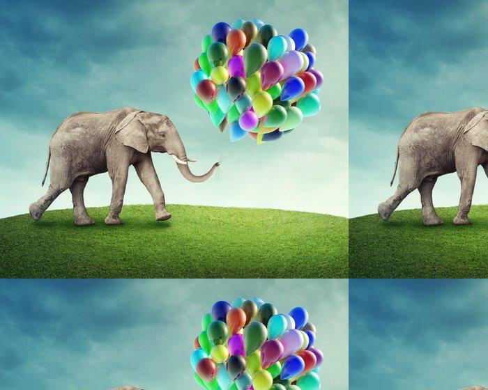 Tapeta Pixerstick Slon s balonky - Témata