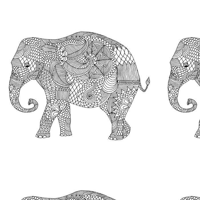Tapeta Pixerstick Slon s květinovou výzdobu - Nálepka na stěny