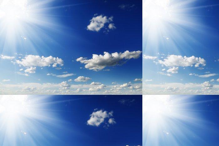 Tapeta Pixerstick Slunce na modré obloze - Nebe