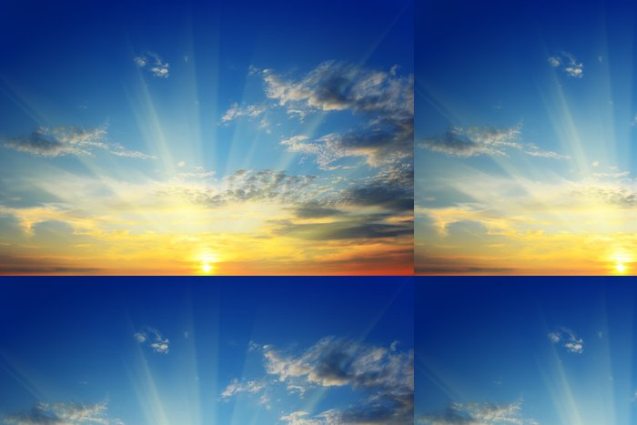 Tapeta Pixerstick Slunce nad obzorem - Nebe