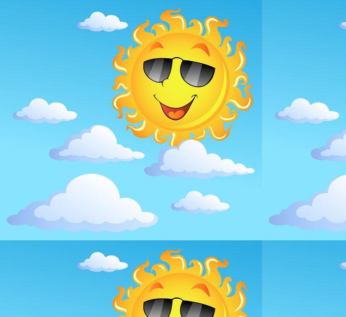 Tapeta Pixerstick Slunce s mraky téma 3 - Roční období
