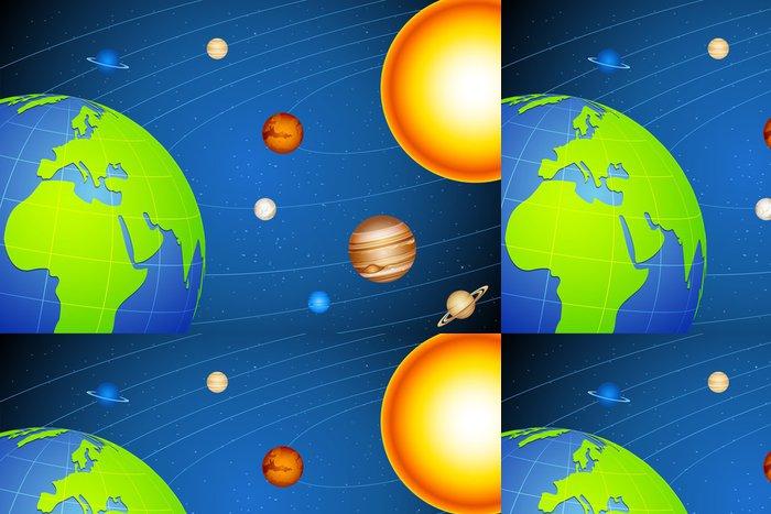 Tapeta Pixerstick Sluneční soustava - Meziplanetární prostor