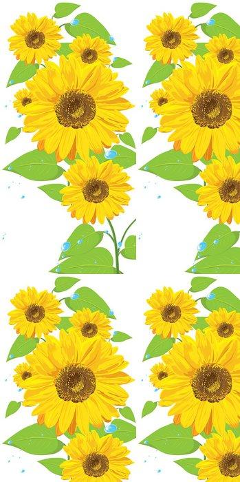 Tapeta Pixerstick Slunečnice (pohlednice) - Květiny