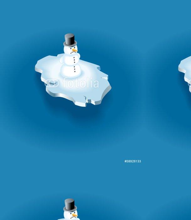 Tapeta Pixerstick Sněhulák na ledové kře - Jiné objekty