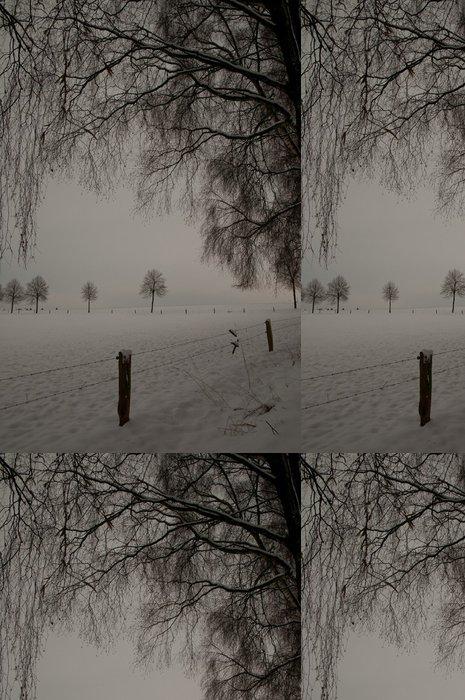 Tapeta Pixerstick Sníh krajiny - Venkov