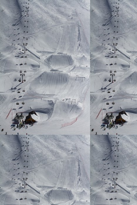 Tapeta Pixerstick Snow park v horském středisku - Situace v podnikání