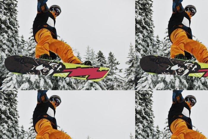 Vinylová Tapeta Snowboard Jump - Individuální sporty