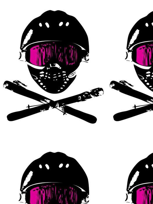 Tapeta Pixerstick Snowboard_mask 1 - Zimní sporty