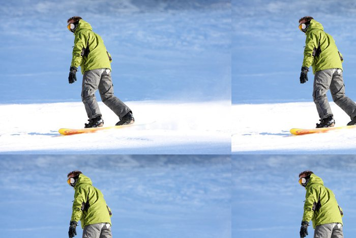 Vinylová Tapeta Snowboard - Prázdniny