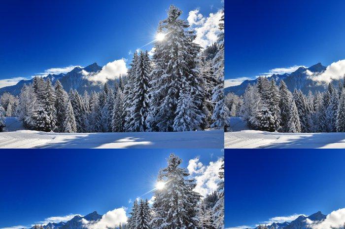 Tapeta Pixerstick Snowy borovice lesní - Témata
