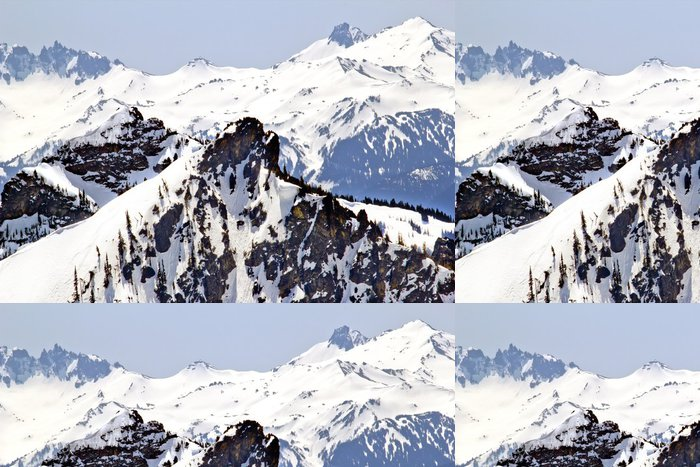 Tapeta Pixerstick Snowy Ridge Lines Crystal Mountain - Hory