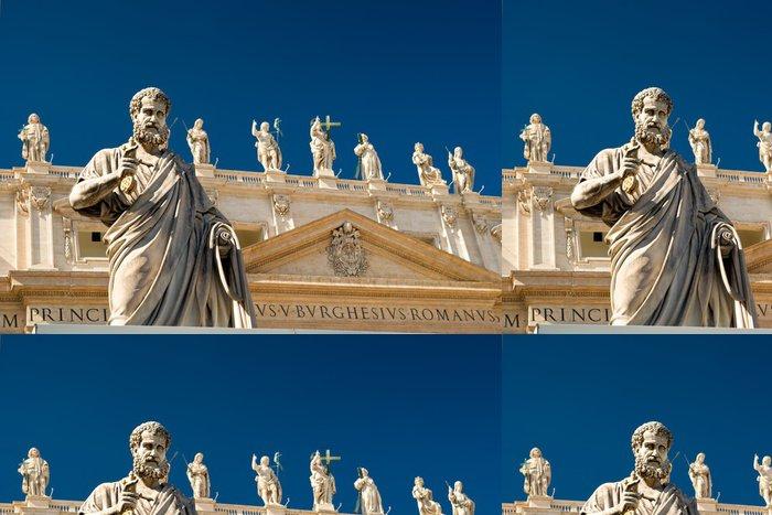 Tapeta Pixerstick Socha apoštola v přední části baziliky svatého Petra, Vatikán - Památky