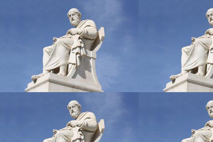 Tapeta Pixerstick Socha filosofa Platóna v Aténách, Řecko - Evropská města