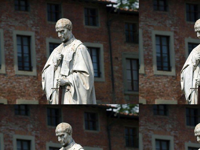 Tapeta Pixerstick Socha Francesco Burlamacchi na Piazza San Michele in Lucca, - Evropa