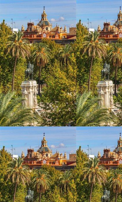 Vinylová Tapeta Socha Plaza Nueva Ferdinand kostel El Salvador Sevilla Španělsko - Prázdniny
