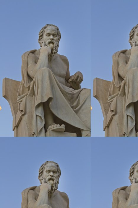 Vinylová Tapeta Socha Socrates z Akademie v Aténách, v Řecku - Evropa