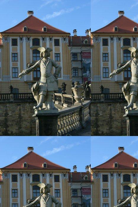 Tapeta Pixerstick Socha v přední části zámku Moritzburg v Německu - Evropa