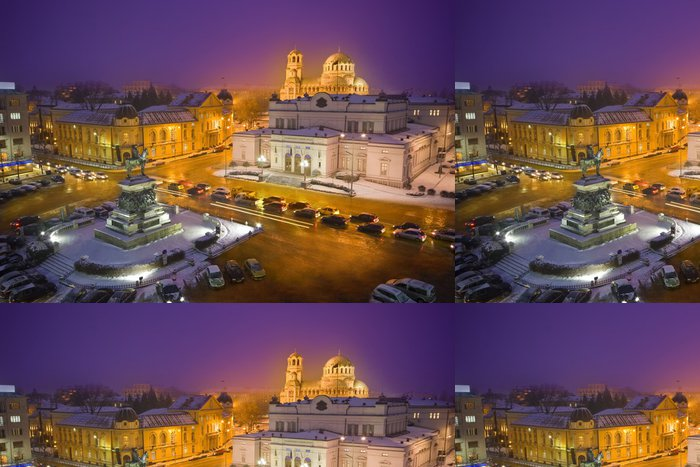 Tapeta Pixerstick Sofia v noci - Evropa