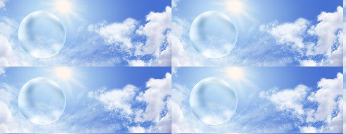 Tapeta Pixerstick Solární energie a obří prázdná bublina - Ekologie