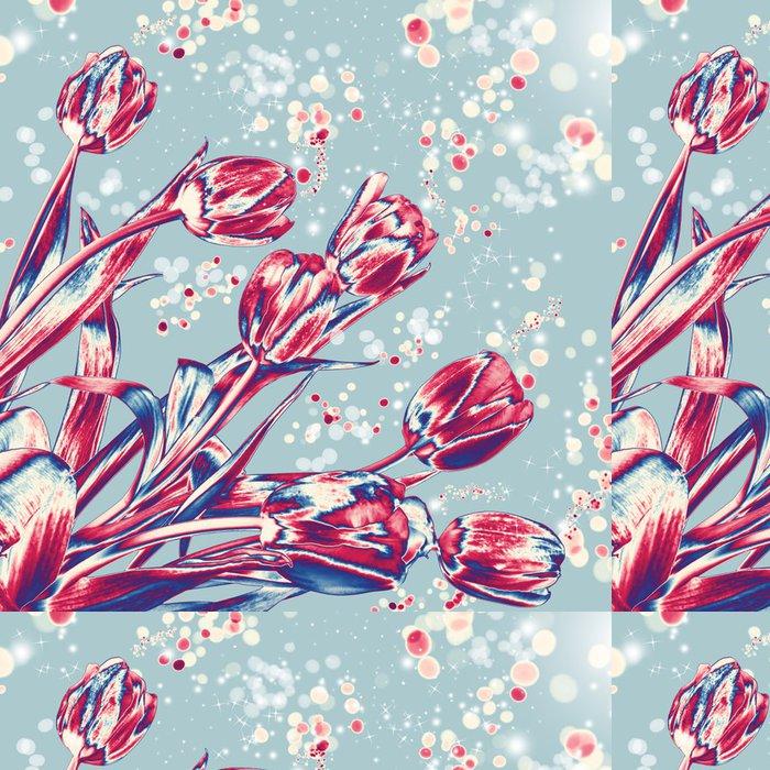 Tapeta Pixerstick Solární tulipány - Květiny