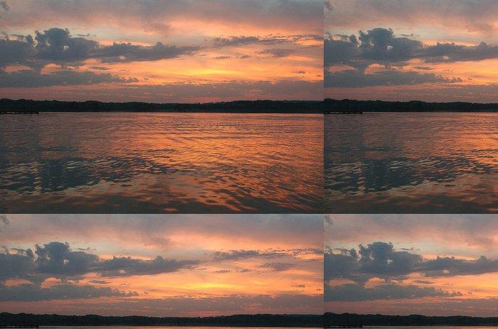 Tapeta Pixerstick Sonnenuntergang am Chiemsee - Voda
