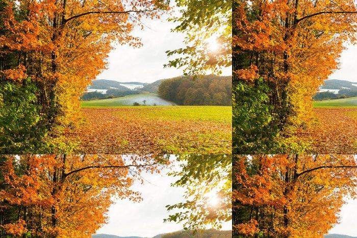 Tapeta Pixerstick Sonnige Herbstlandschaft - Outdoorové sporty