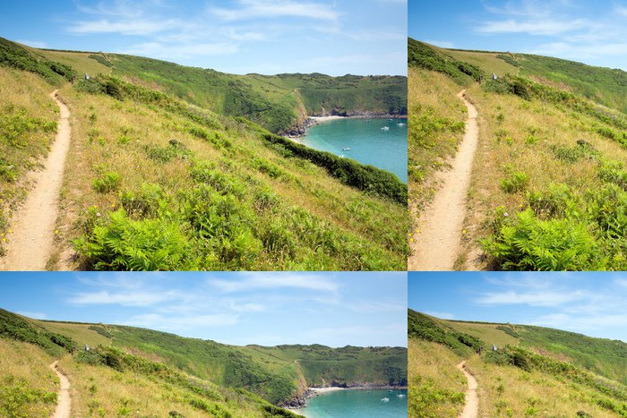 Tapeta Pixerstick South West West Coast Path Lantic Bay Cornwall England - Evropa