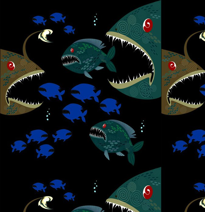 Tapeta Pixerstick Souvislosti s hlubokými monstra ryb - Témata