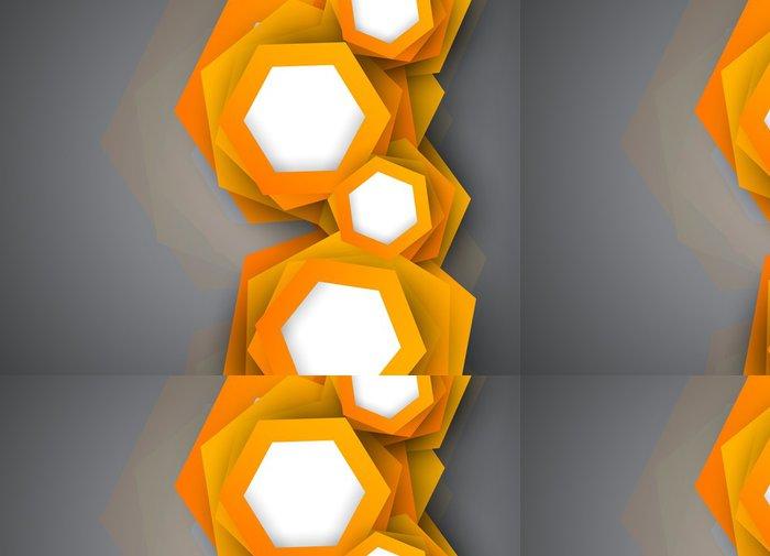 Tapeta Pixerstick Souvislosti s oranžovými šestiúhelníků - Situace v podnikání