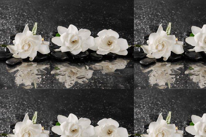 Tapeta Pixerstick Spa koncept -gardenia květ s ZEN Stone - Životní styl, péče o tělo a krása