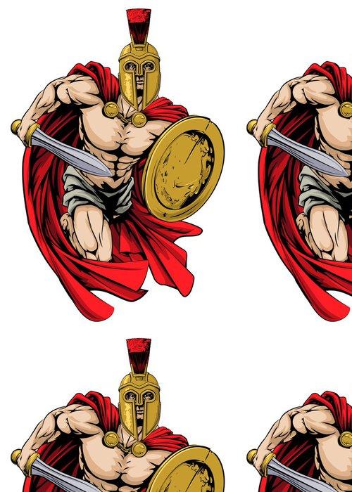 Tapeta Pixerstick Spartan bojovník maskot - Týmové sporty
