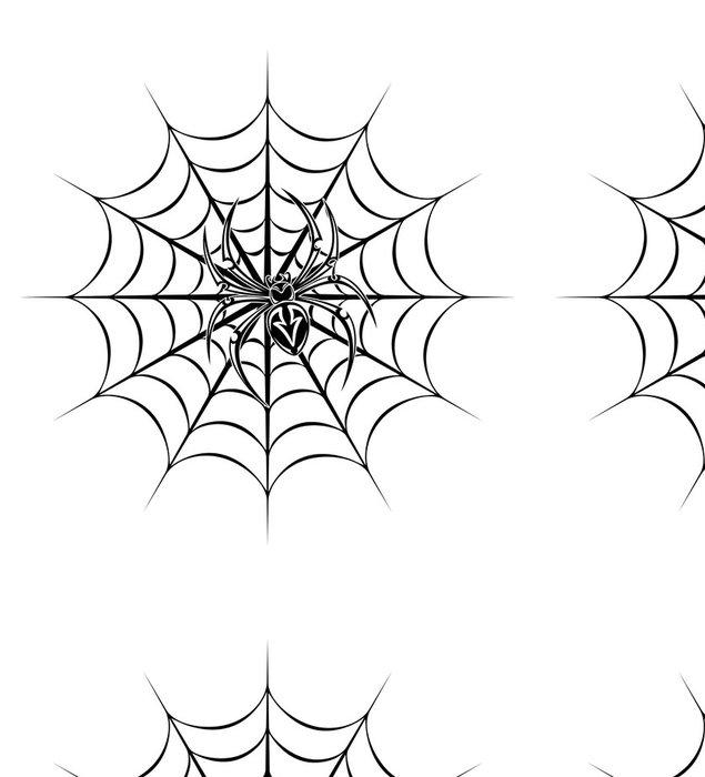 Tapeta Pixerstick Spider tattoo - Život