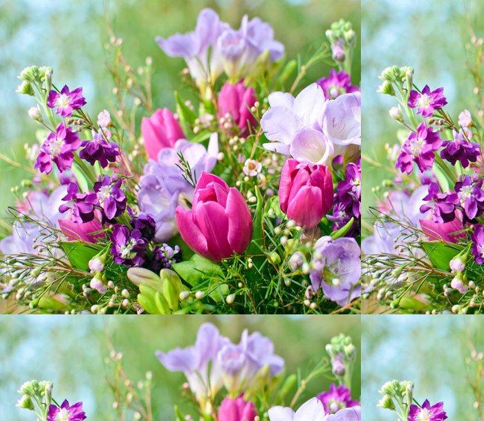 Tapeta Pixerstick Spring Awakening: Květiny sen ve fialové a růžové - Slavnosti