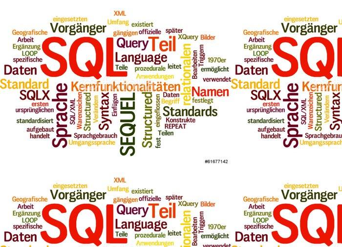 Tapeta Pixerstick SQL (databáze, školení, data) - Počítače