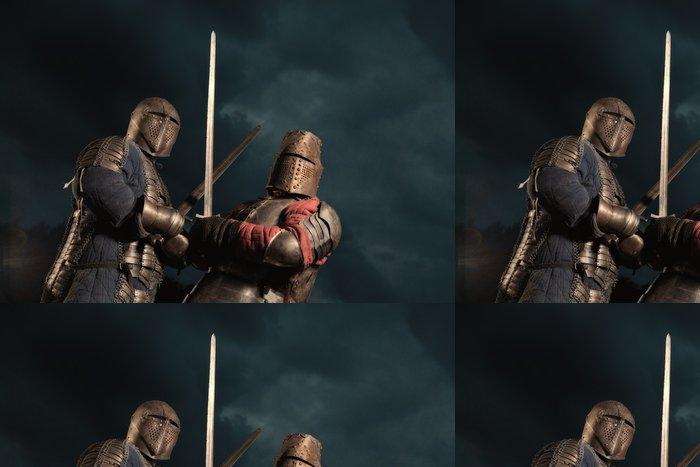 Tapeta Pixerstick Squad ze dvou středověkých rytířů - Život