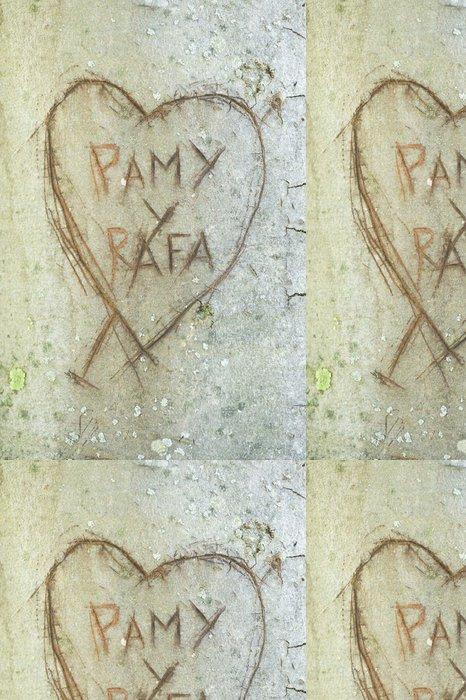 Tapeta Pixerstick Srdce a iniciály - Štěstí