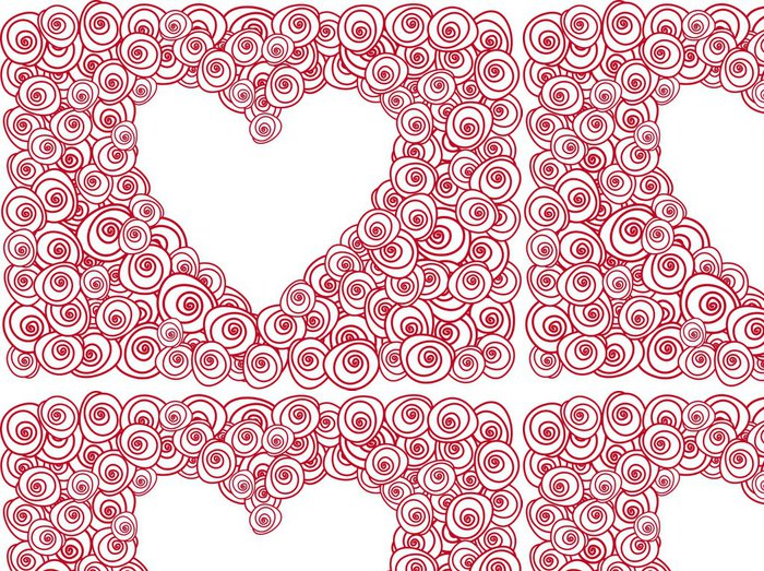 Tapeta Pixerstick Srdce s červenou růží - Štěstí