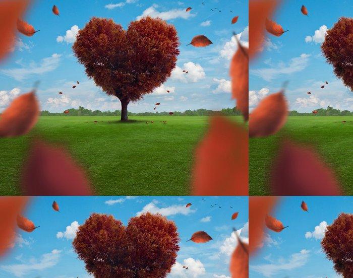 Vinylová Tapeta Srdce strom - Stromy