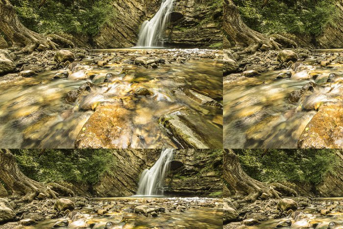 Tapeta Pixerstick St Fele Falls - Voda