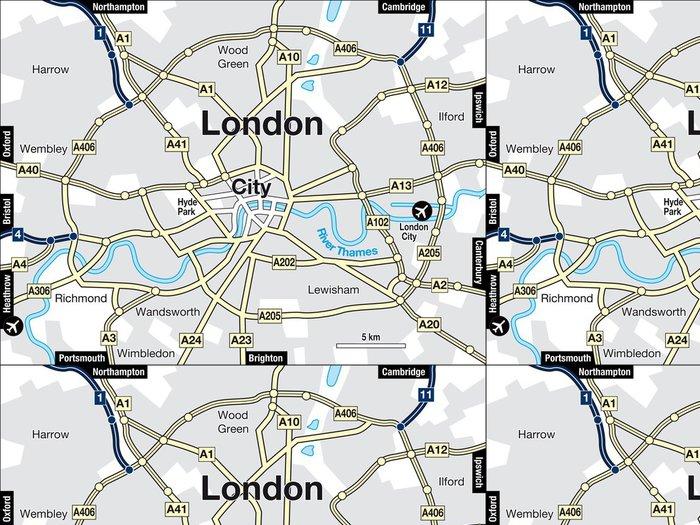Vinylová Tapeta Stadtplan Londýn - Evropa