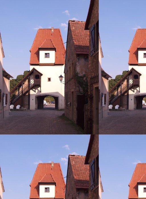 Tapeta Pixerstick Stadttor v Sulzfeld am Main - Prázdniny