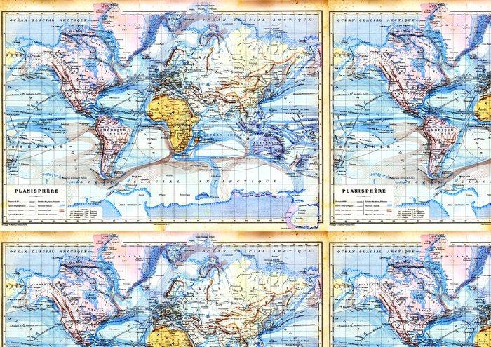 Vinylová Tapeta Stará mapa planisphere - Témata
