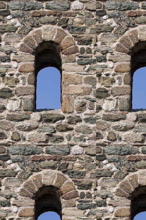 Tapeta Pixerstick Stará okna hrad - Evropa