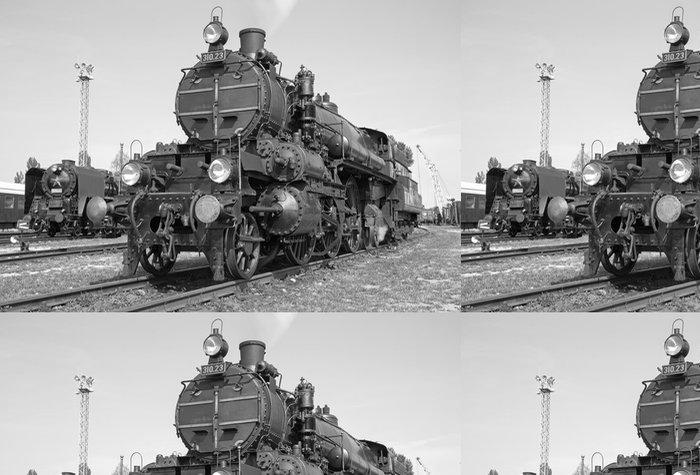 Tapeta Pixerstick Stará parní lokomotiva - Témata