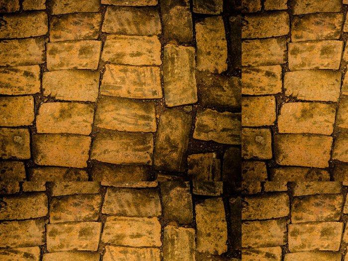 Tapeta Pixerstick Stará pevnost cihlové zdi - Struktury
