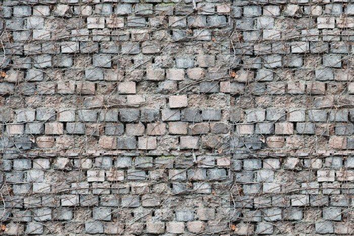 Tapeta Pixerstick Staré cihlové zdi z šedé a růžové - Pozadí