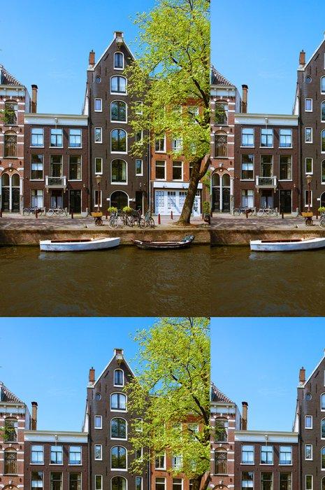 Vinylová Tapeta Staré domy v Amsterdamu - Evropa