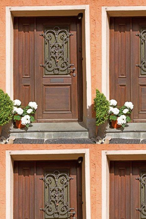 Tapeta Pixerstick Staré dveře ze dřeva, Německo - Památky